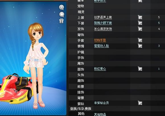 QQ飞车女生服装可爱版,要原创,需要图片和服饰名称,给好评,谢谢图片