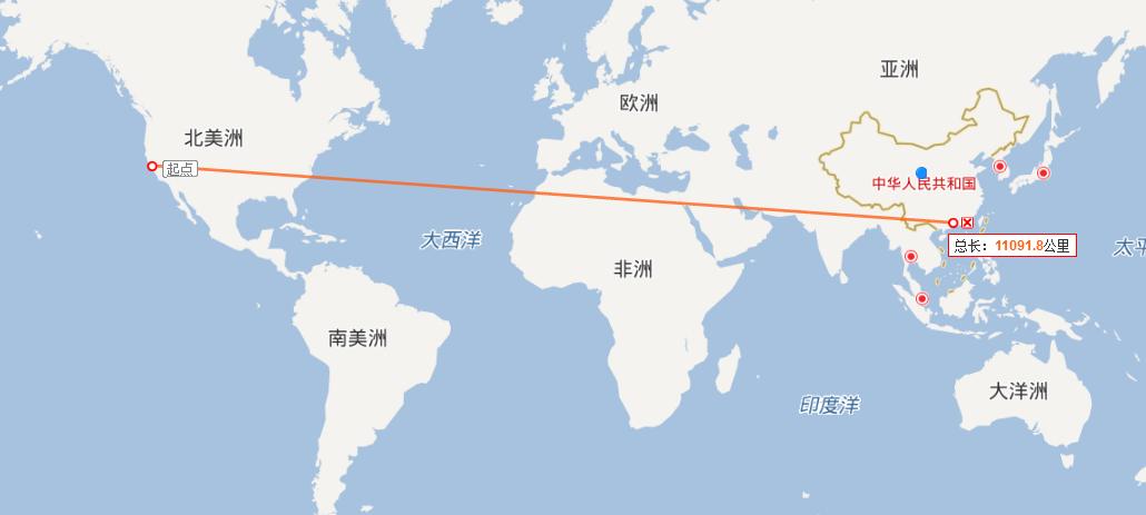 广州直飞旧金山航班