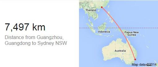 悉尼到珀斯距离