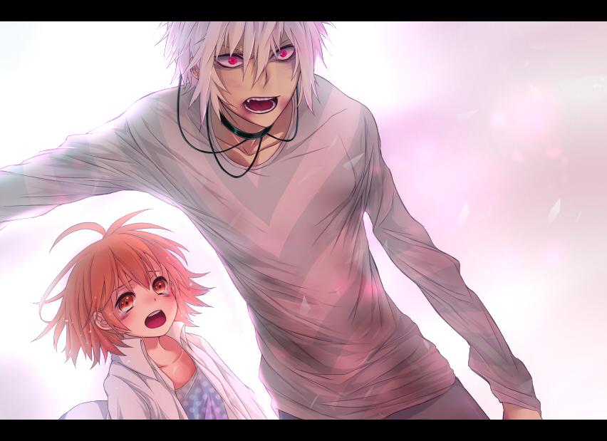 Девушка и парень аниме арты 9
