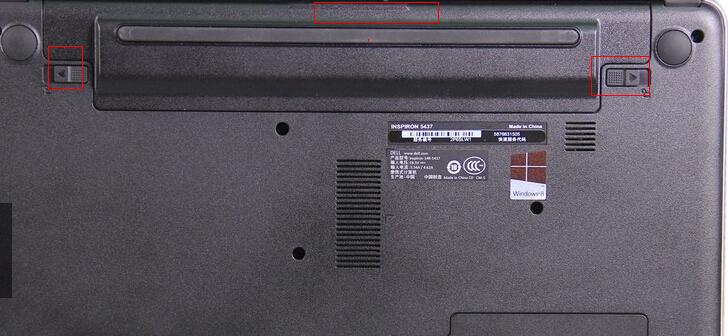 笔记本dell的电池两边扣开不起,求帮忙!图片