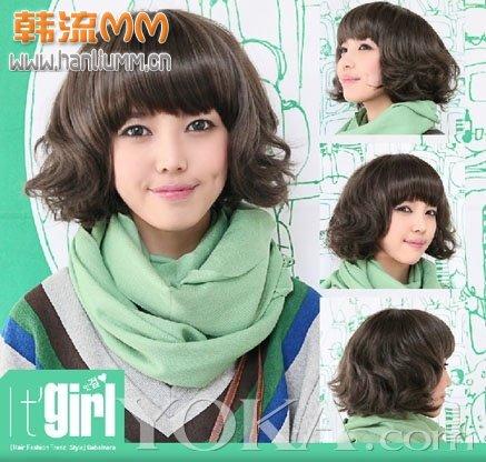 我还是高中生,烫这个合适吗?打理起来方便吗?要多长的头发才能弄呢?图片