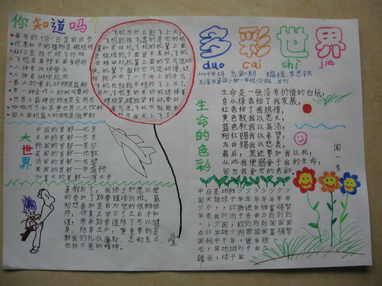 780 2008-03-29 艺术手抄报作品 36 2011-04-15 语言艺术手抄报 49