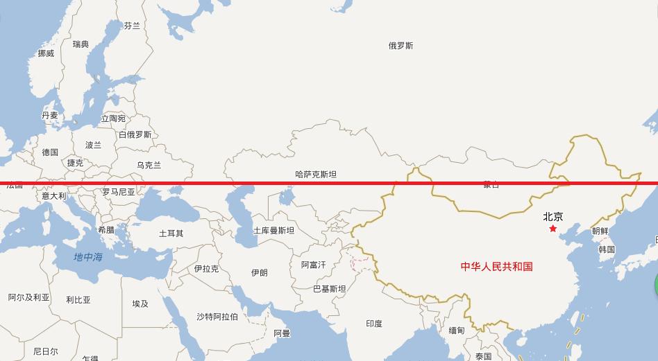 北纬47度是哪个国家  处在北纬47度的是哪个国家,哪个城市?