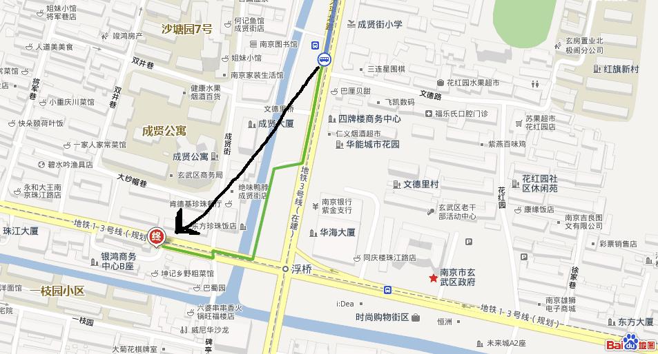 从南京林业大学到珠江路牛太郎自助烤肉店应该坐坐公交车?图片