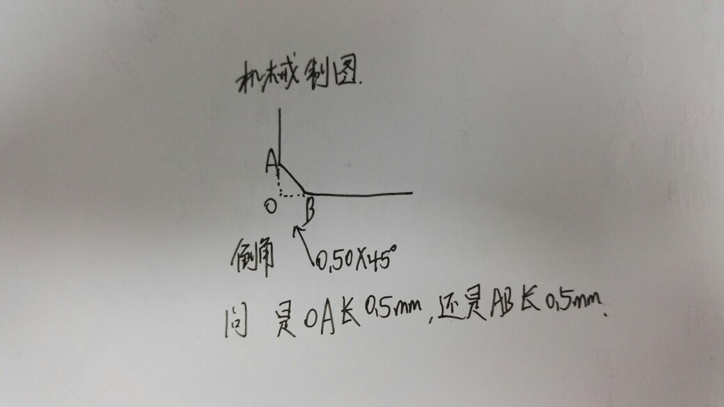 机械制图,倒角标注问题.图片