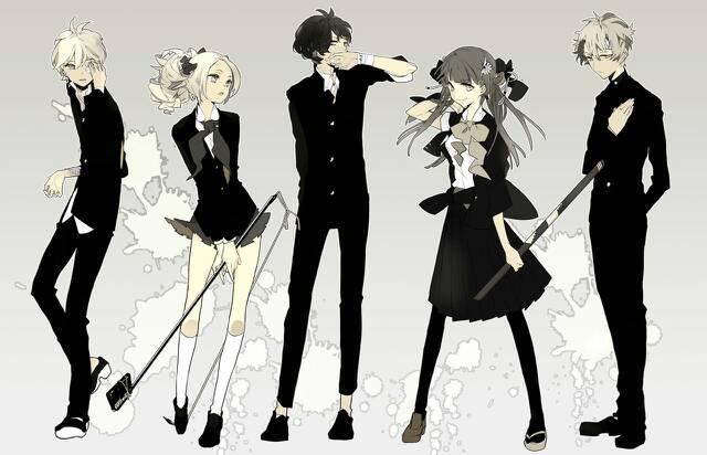 求四男两女的美型动漫图片一定要美型