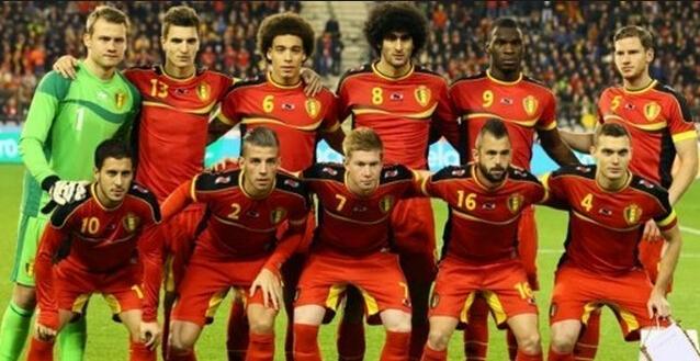 比利时国家男子足球队的比赛实况图片