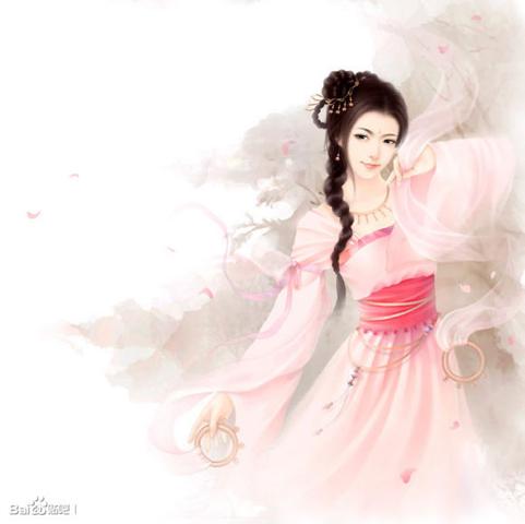 求动漫古代白衣女子跳舞图片