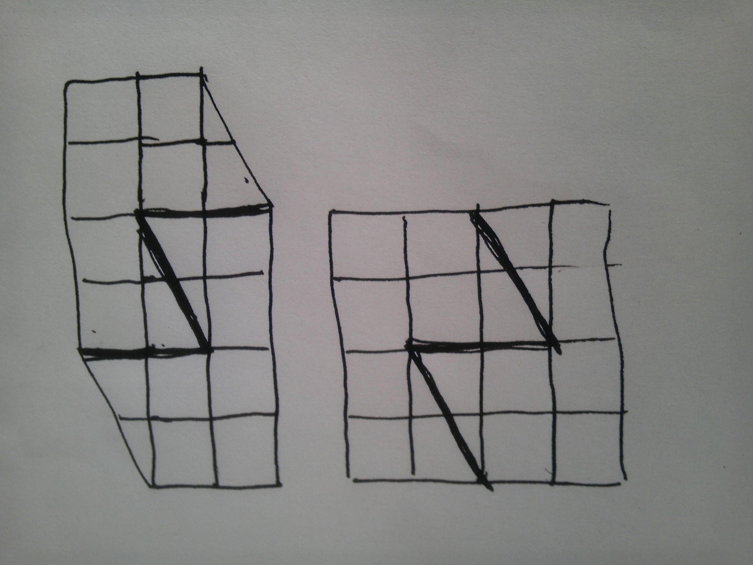 如图,是有几个小正方形和三角形组成的图案,要求分成2图片