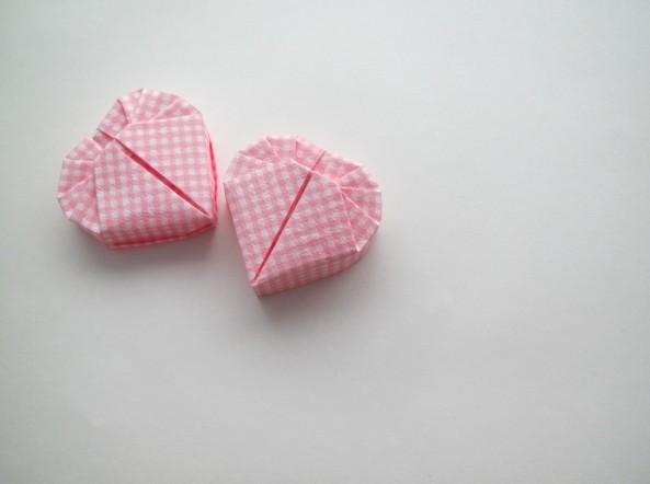 如何折爱心纸盒 心形纸盒的折法 图解图片
