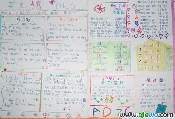 【急】中西方节日英语手抄报怎么画图片