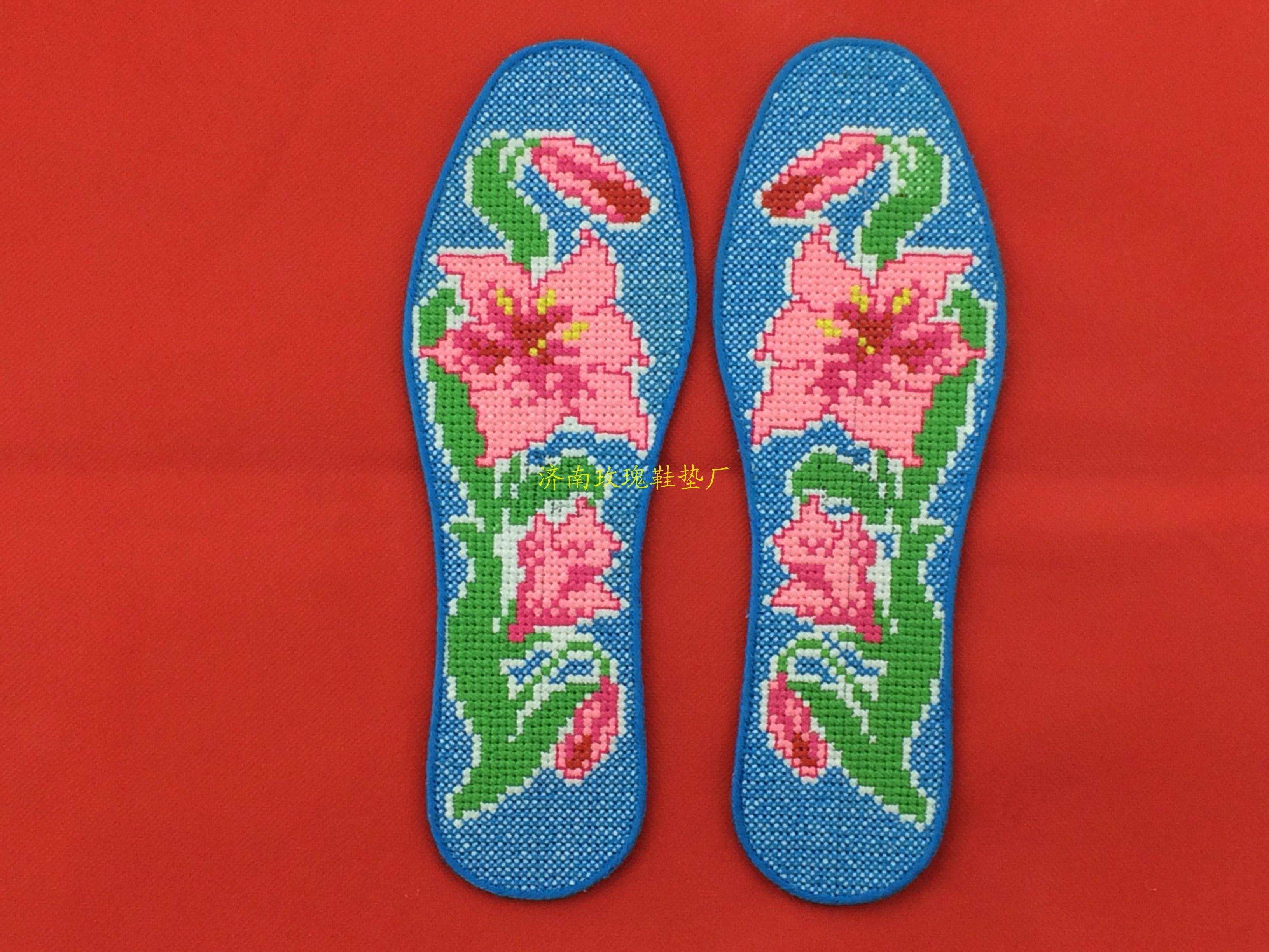手工十字绣鞋垫图案 丑妞十字绣鞋垫图案 十字绣鞋垫高清图片