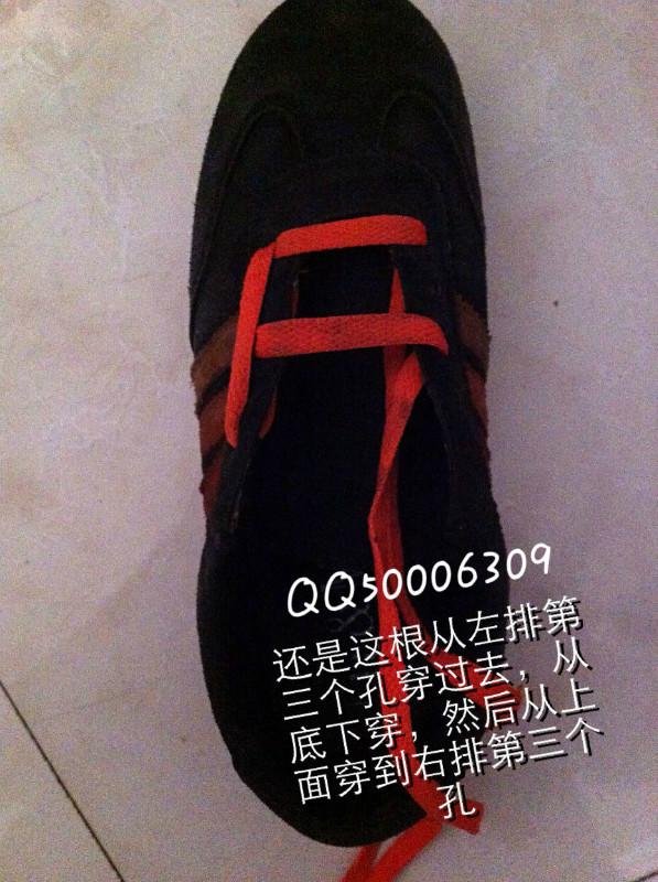 exo系鞋带方法图解10孔图片