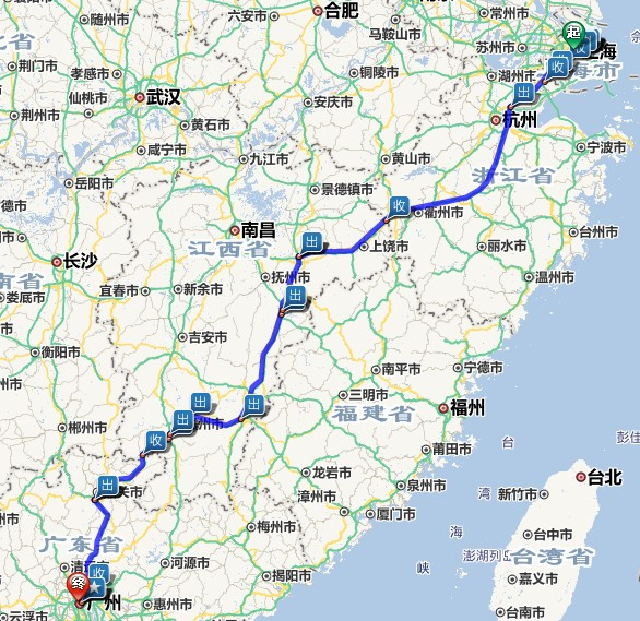 上海到广州的最佳路线