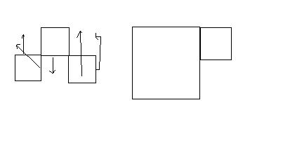 由15根火柴棒组成六个正方形,拿掉哪两根可以变成四个图片