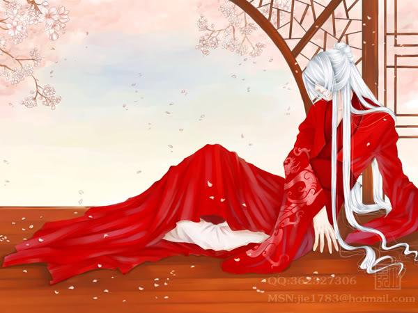 红衣红衣古装美女红衣白发白发红衣