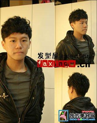 男生自然卷短发怎么留长和改刘海方向图片