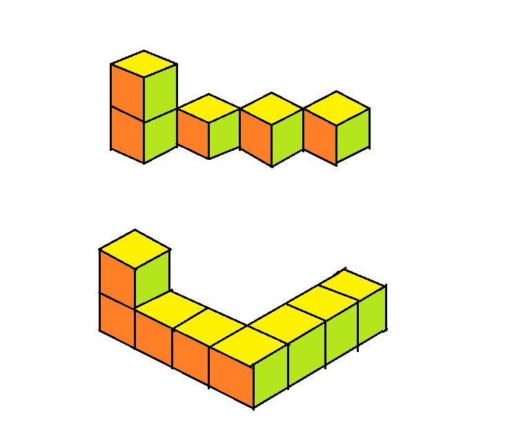 用一些小正方体搭成的立体图形,从左面和正面看到的图形都如图