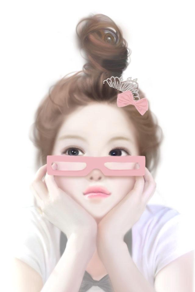 韩版唯美女生图片谁有类似下面这中的