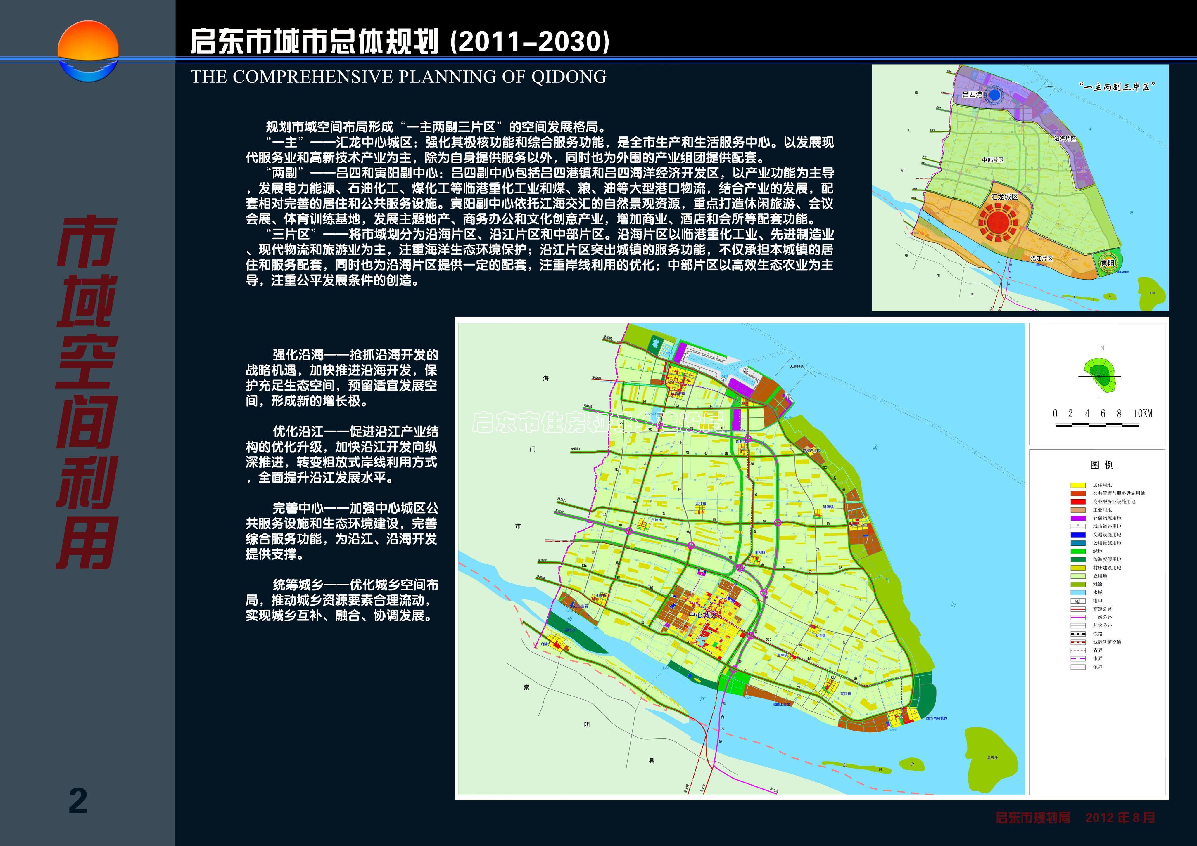 市域空间利用 求启东市新城区规划示意图 高清图片