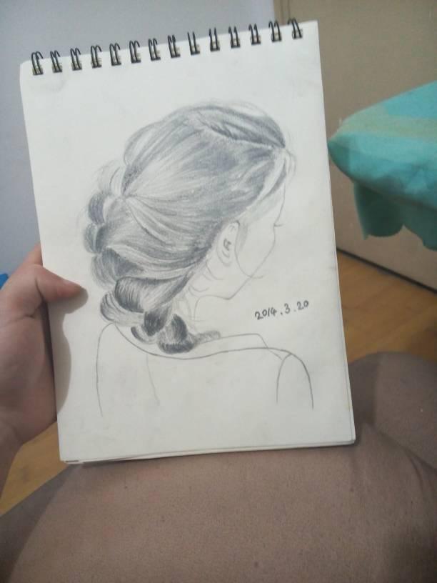 我喜欢一个女孩子,这是我给她画的相,没学过美术,怎么图片