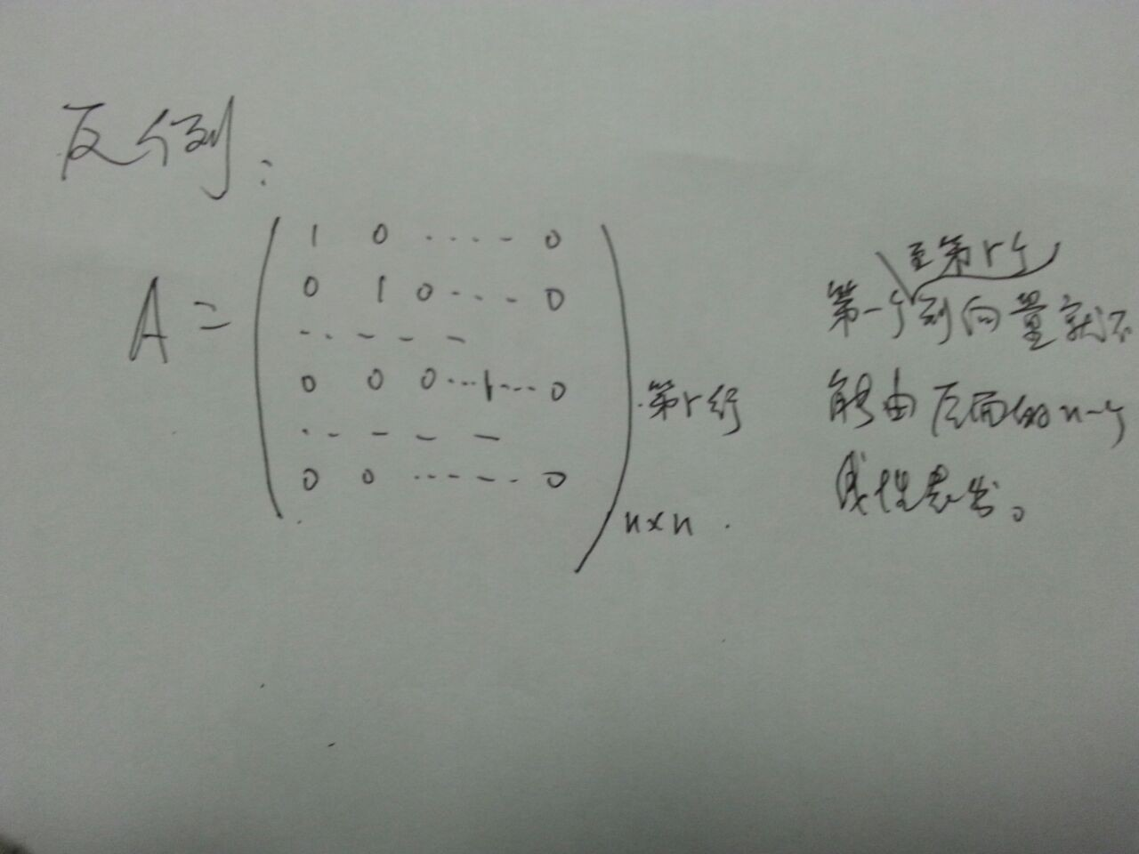 其秩r()=rn