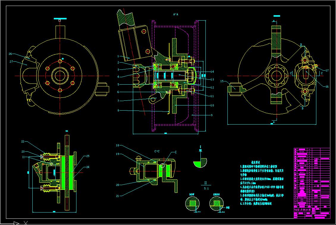 369706821@q. 1 2011-05-05 求浮钳盘式制动器cad装配图和零件图.