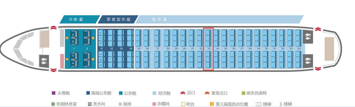南航空客320选座位,39到51排,选哪里好呢?图片