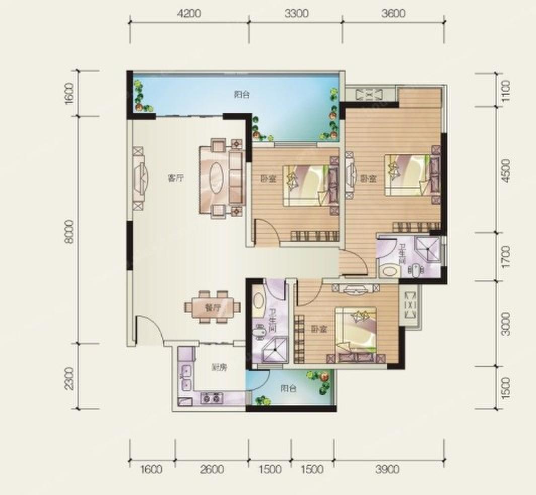 117平米房子装修设计效果图谁有,三室二厅二卫的
