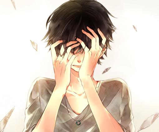 【头像】求颓废捂脸伤感动漫头像_百度知道