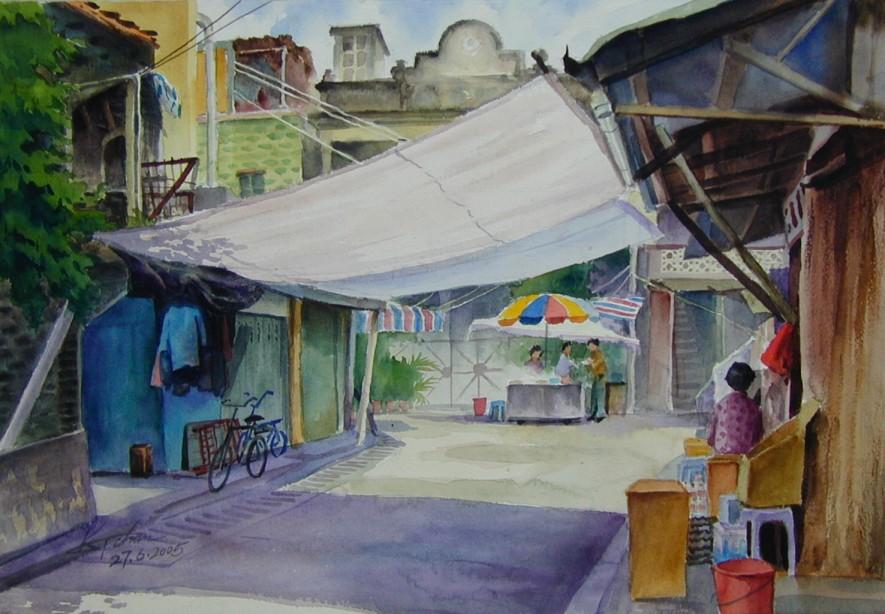 简单彩色铅笔画风景 铅笔画风景漫画素描 简单好看彩色铅笔画