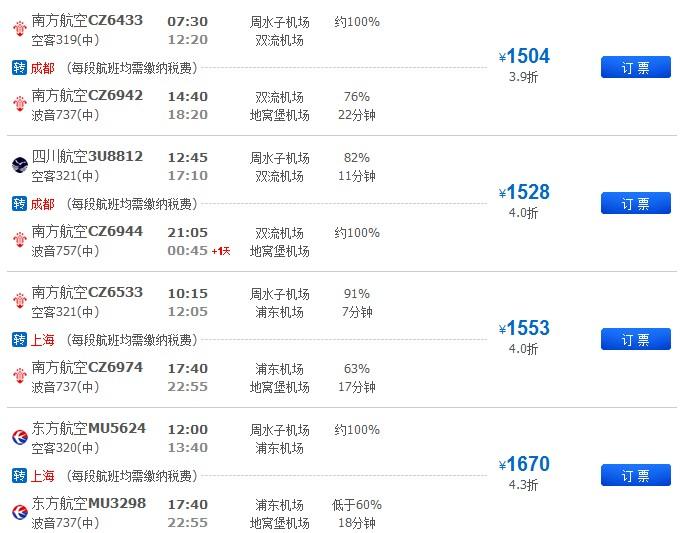 2 2012-08-30 2012年8月30日乌鲁木齐飞大连的航班cz6954是18点.