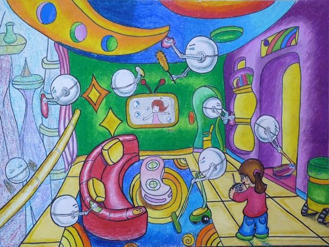 月亮度假村科幻画的创意说明怎么写图片