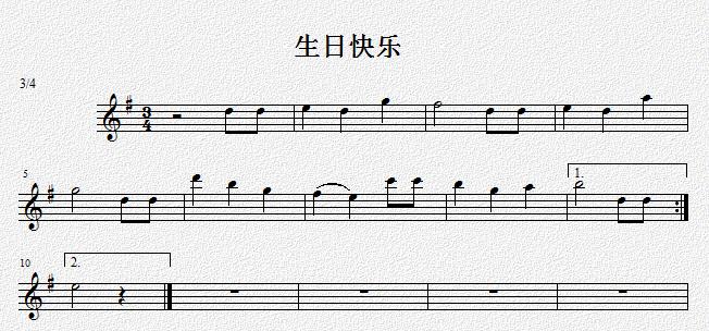 生日歌钢琴谱 虫儿飞简谱 生日快乐歌钢琴谱图片