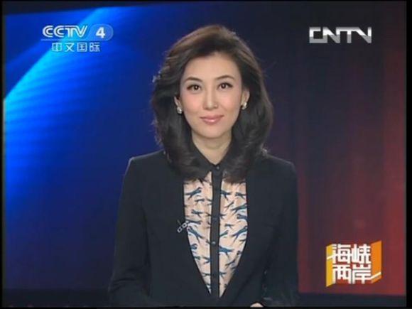 中文国际主持_这位中文国际主持《海峡两岸》的女主持是李红,长得很漂亮.