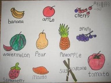 英语关于水果的手抄报