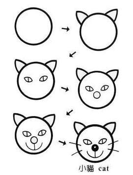小猫怎么画可爱一点