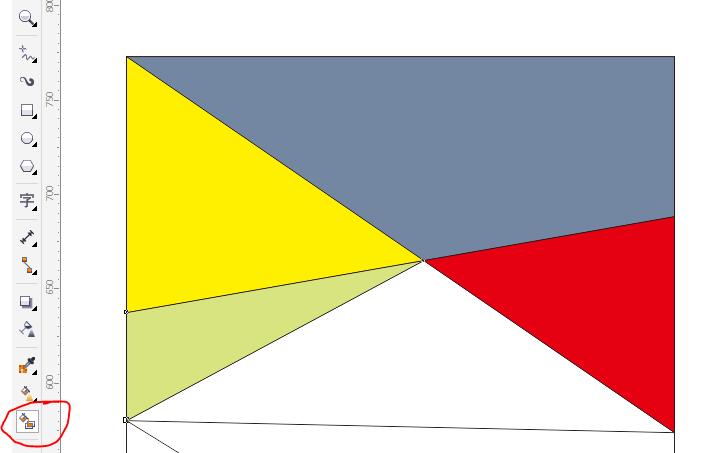 cdr图形怎么填充颜色