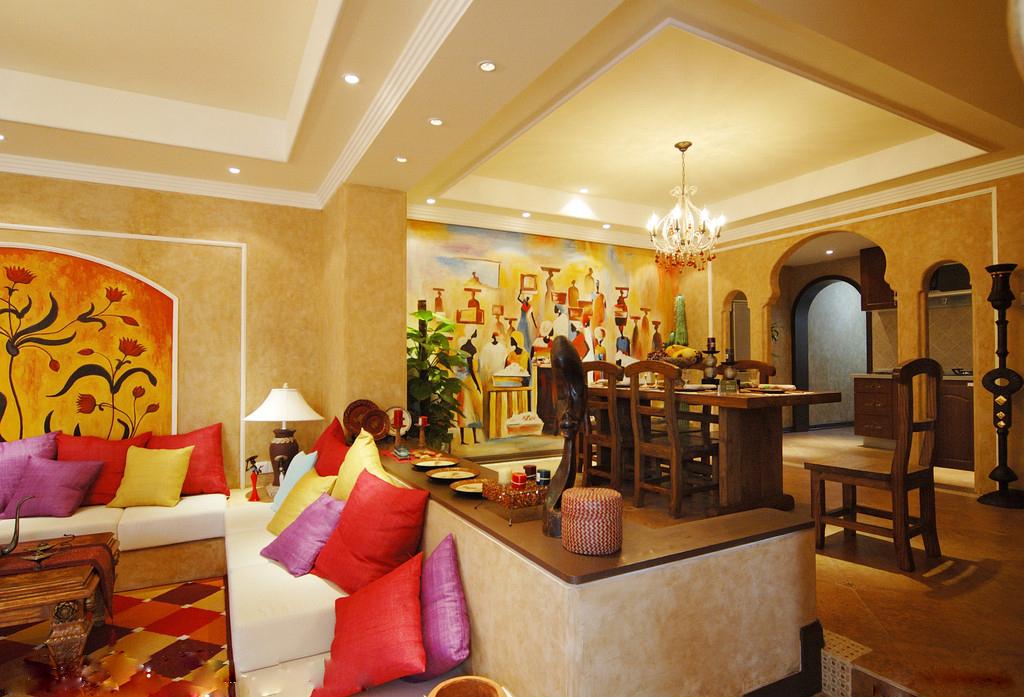 2),木材木质较硬,成为了印度风家庭装修的常备风格.