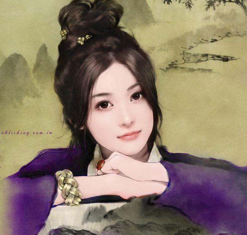 丹青古代公主古代美女丹青图片古装丹青