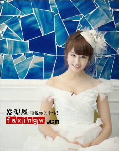 需要长头发齐刘海的婚纱照照片,有的发给我图片