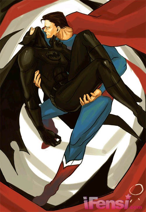 超人与蝙蝠侠_求两张头像,一张是蝙蝠侠坐在超人身上飞的,一张是超人亲蝙蝠侠的,要