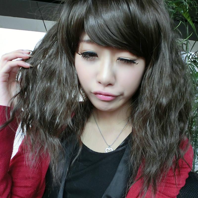 小眼睛鹅蛋脸高额头的女生适合什么发型要长发图片