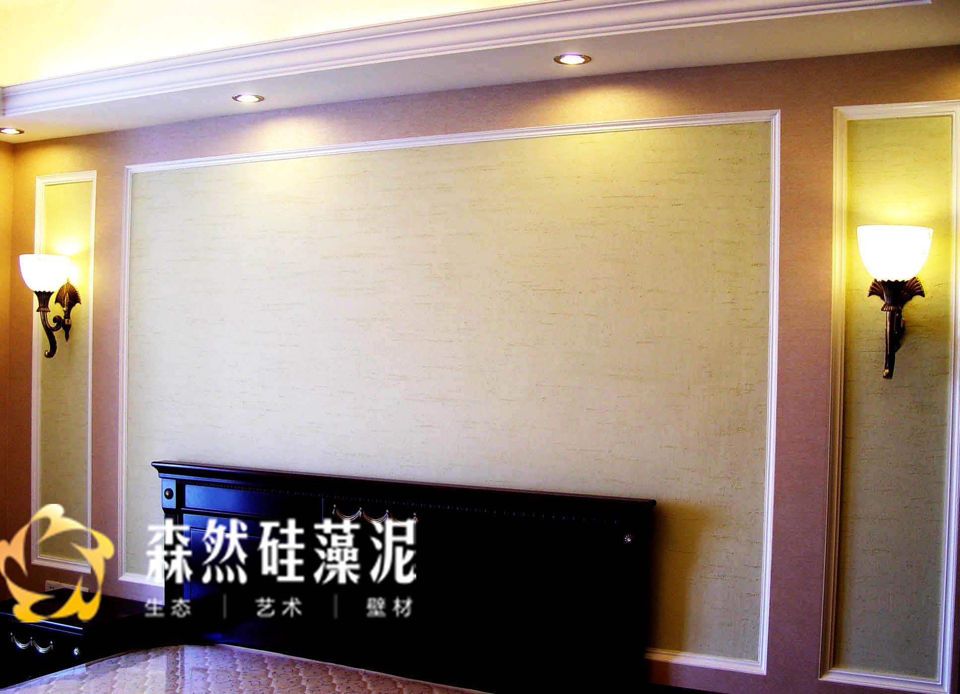 简欧风格电视背景墙用硅藻泥材料装修好看吗图片