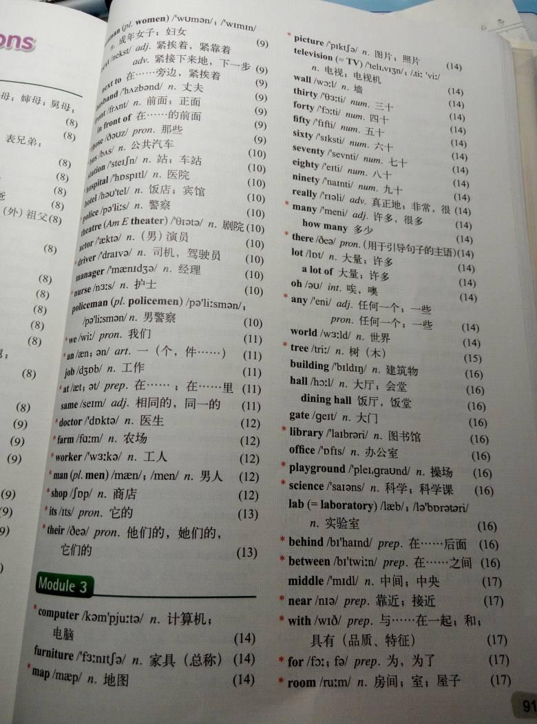 七年级上册英语单词表2014图片