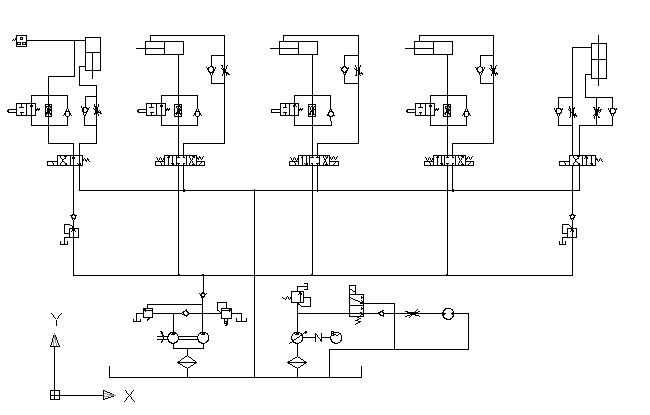 怎么把这张图转化为油路板式液压系统原理图?求高手图片