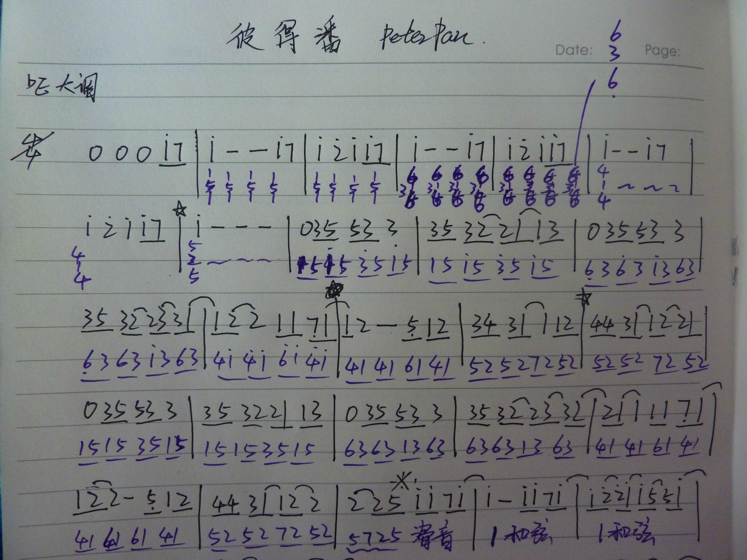 exo十二月奇迹简谱