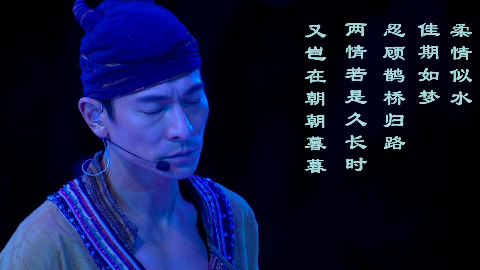 求一张刘德华2008世界巡回演唱会桌面壁纸图片