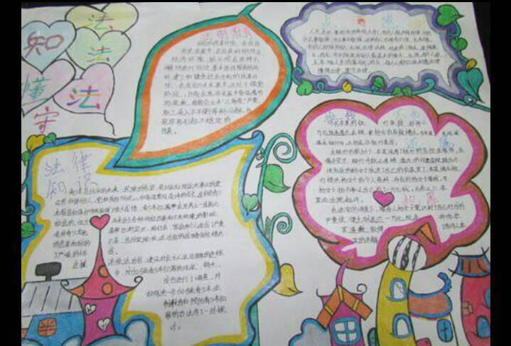 历史文化彩色手抄报a3纸